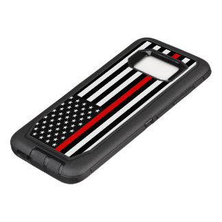 Thin Red Line American Flag OtterBox Defender Samsung Galaxy S8 Case