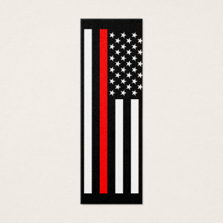 Thin Red Line American Style on a Mini Business Card