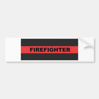 Thin Red Line Bumper Sticker