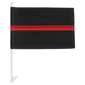 Thin Red Line Firefighter Funeral Flag