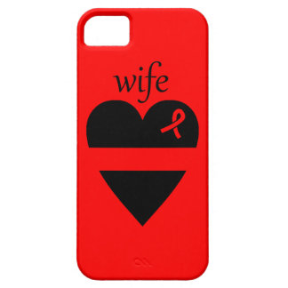 Thin Red Line Heart Fireman Wife iPhone 5 Case