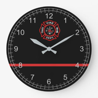 Thin Red Line Large Clock