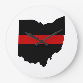 Thin Red Line Ohio Clock