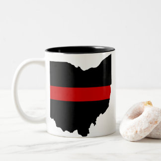Thin Red Line Ohio Mug