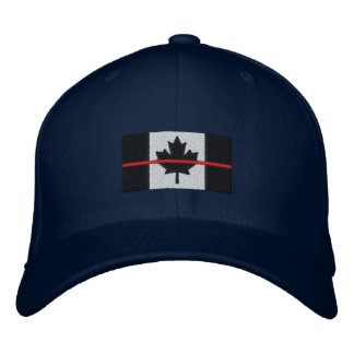 Thin Red Line on Canadian Flag Embroidered Hat