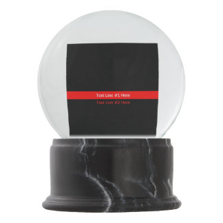 Thin Red Line Symbolic Memorial with text on a Snow Globe