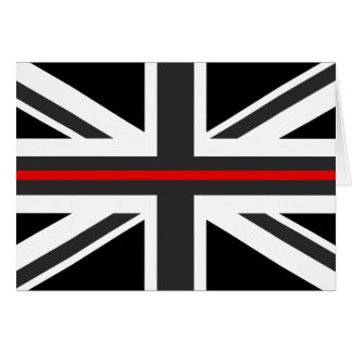 Thin Red Line UK Flag Card