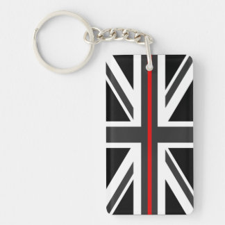 Thin Red Line UK Flag Key Ring