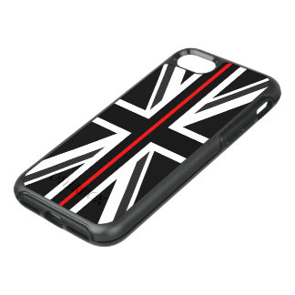 Thin Red Line UK Flag OtterBox Symmetry iPhone 8/7 Case