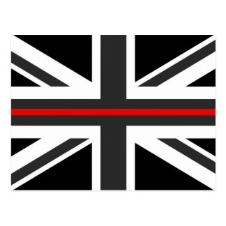 Thin Red Line UK Flag Postcard