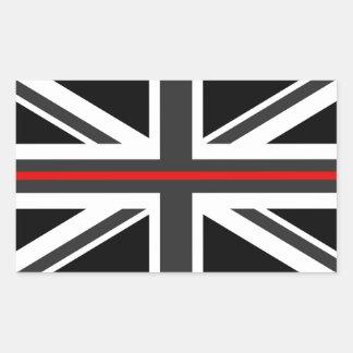 Thin Red Line UK Flag Rectangular Sticker