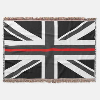 Thin Red Line UK Flag Throw Blanket