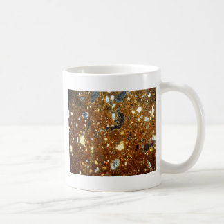 Thin section of a brick under the microscope coffee mug