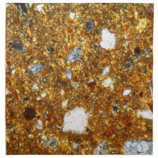 Thin section of a brick under the microscope napkin