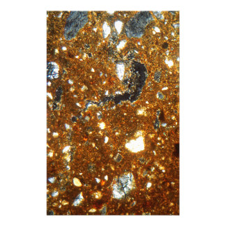 Thin section of a brick under the microscope stationery