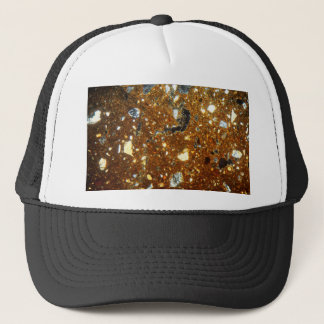 Thin section of a brick under the microscope trucker hat