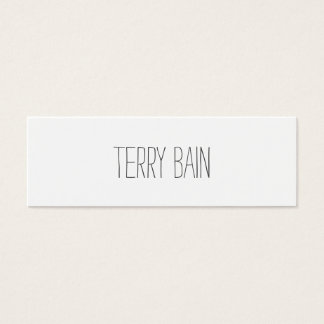Thin Simple Minimal Center Front and Back Mini Business Card