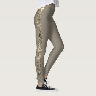 Thin Stripe of Geometric Fractal Leggings