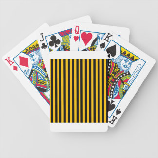 Thin Stripes - Black and Amber Bicycle Playing Cards