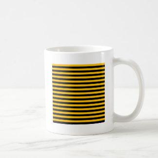 Thin Stripes - Black and Amber Coffee Mug