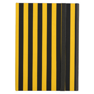 Thin Stripes - Black and Amber Cover For iPad Air