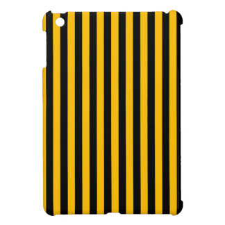 Thin Stripes - Black and Amber Cover For The iPad Mini