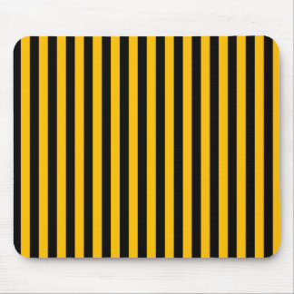 Thin Stripes - Black and Amber Mouse Pad