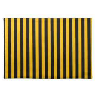Thin Stripes - Black and Amber Placemat