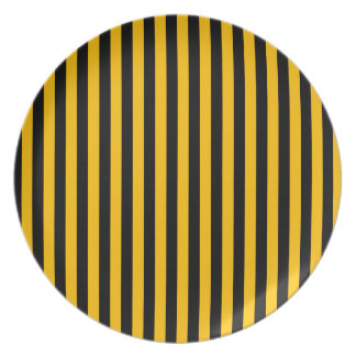Thin Stripes - Black and Amber Plates