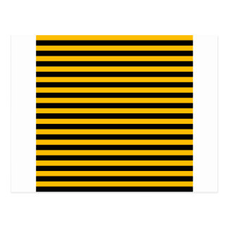 Thin Stripes - Black and Amber Postcard