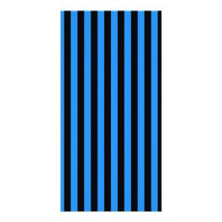 Thin Stripes - Black and Blue Card