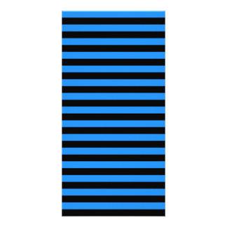 Thin Stripes - Black and Blue Photo Greeting Card