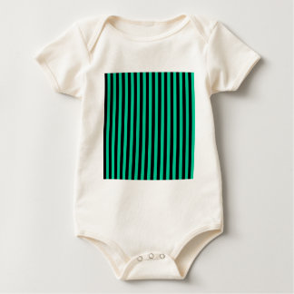 Thin Stripes - Black and Caribbean Green Baby Bodysuit