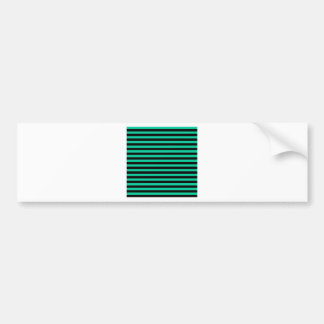 Thin Stripes - Black and Caribbean Green Bumper Sticker