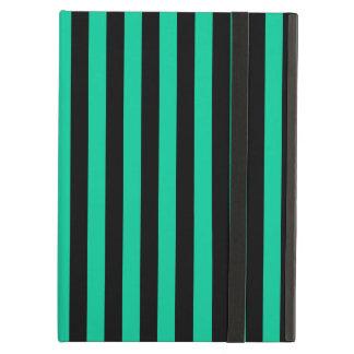 Thin Stripes - Black and Caribbean Green Case For iPad Air