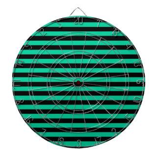 Thin Stripes - Black and Caribbean Green Dartboard