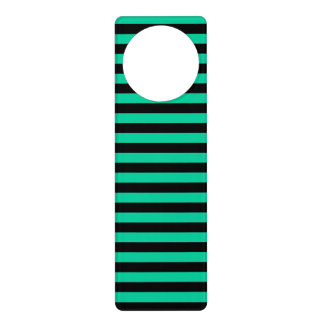 Thin Stripes - Black and Caribbean Green Door Hanger