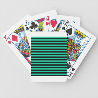 Thin Stripes - Black and Caribbean Green Poker Deck