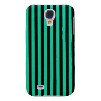 Thin Stripes - Black and Caribbean Green Samsung Galaxy S4 Cover