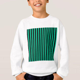 Thin Stripes - Black and Caribbean Green Sweatshirt