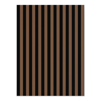 Thin Stripes - Black and Coffee Card
