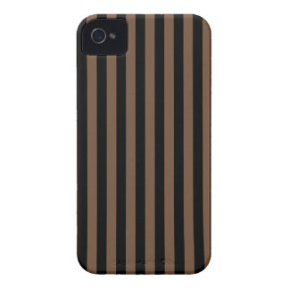 Thin Stripes - Black and Coffee iPhone 4 Cover