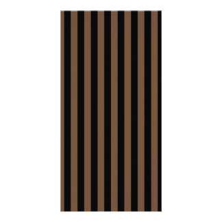 Thin Stripes - Black and Coffee Photo Greeting Card