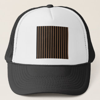 Thin Stripes - Black and Coffee Trucker Hat