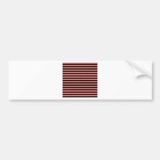 Thin Stripes - Black and Coral Pink Bumper Sticker