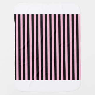 Thin Stripes - Black and Cotton Candy Baby Blanket