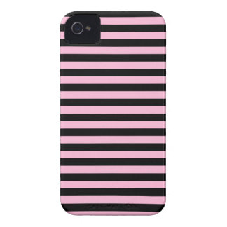 Thin Stripes - Black and Cotton Candy iPhone 4 Case
