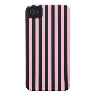 Thin Stripes - Black and Cotton Candy iPhone 4 Case-Mate Cases