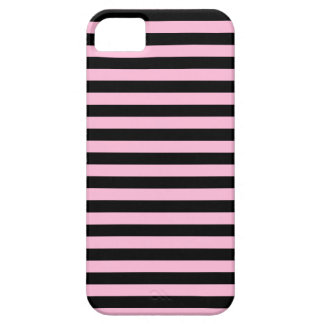 Thin Stripes - Black and Cotton Candy iPhone 5 Cases