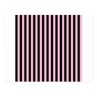 Thin Stripes - Black and Cotton Candy Postcard